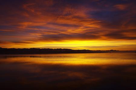 Sunset Over Lake, Mrauk-Oo, Myanmar LANG_EVOIMAGES