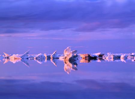 Icebergs, Hudson Bay, Manitoba, Canada