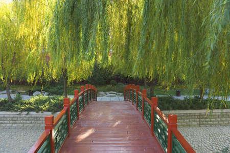 Wooden Bridge, Zhong Shan Park, Beijing, China