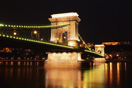 nightime: Bridge, Budapest, Hungary