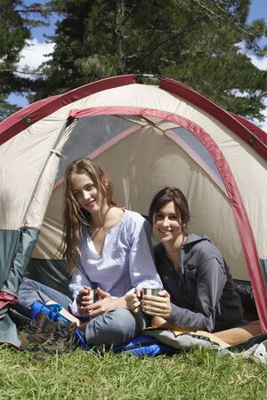 adventuresome: Friends Sitting in Tent