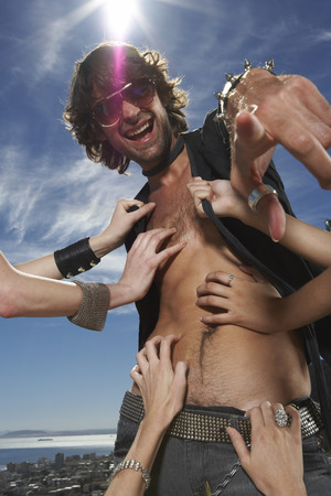 egoistic: Womens Hands Touching Man