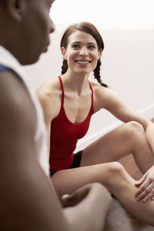 athletic wear: Man and Woman at Gym LANG_EVOIMAGES