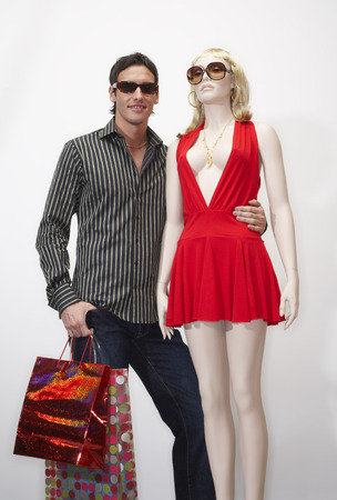 Portrait of Man with Mannequin