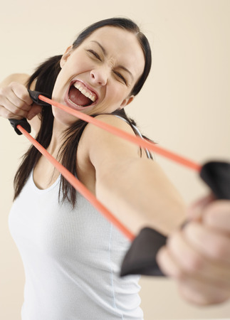 Woman With Exercise Band