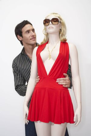 perturbed: Portrait of Man with Mannequin