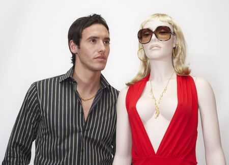25 35: Portrait of Man with Mannequin