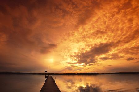 Sunset, Lake Starnberg, Bavaria, Germany