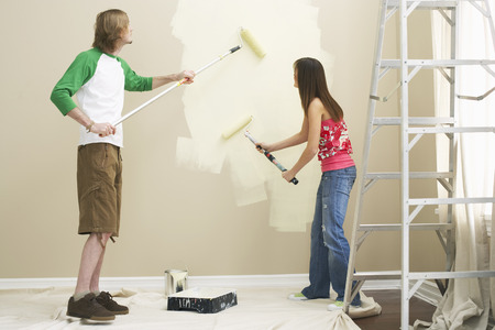 domestication: Couple Painting Home