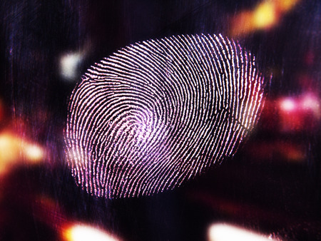 Close-Up of Finger Print