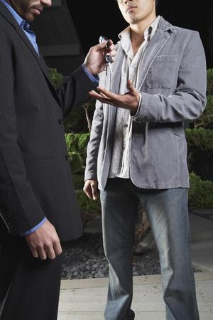 inebriated: Man Giving Friend Car Keys