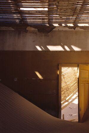 down beat: Deserted Building, Pomona, Namibia