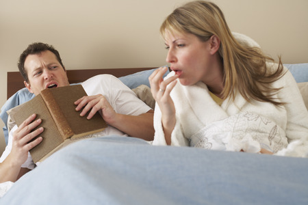 skepticism: Couple in Bed