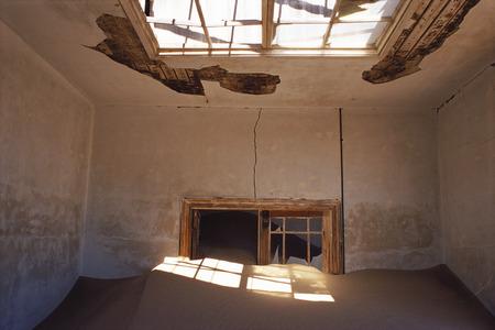 run down: Interior of Deserted House, Pomona, Namibia