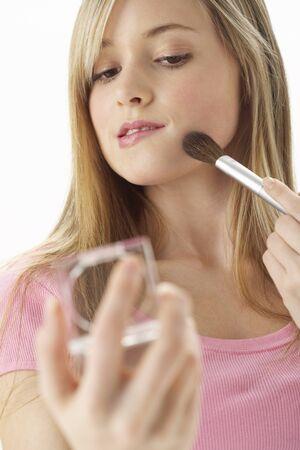 Girl Applying Make-Up