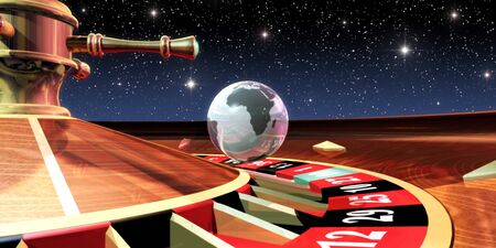 third wheel: Earth As A Ball On A Roulette Wheel LANG_EVOIMAGES