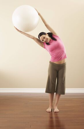 Portrait of Woman With Exercise Ball