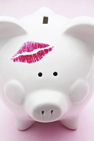 discolorations: Piggy Bank With Lipstick Mark