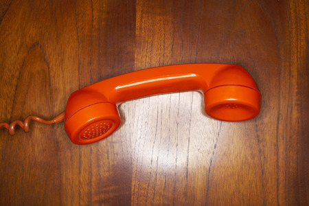 wood panelled: Telephone Receiver