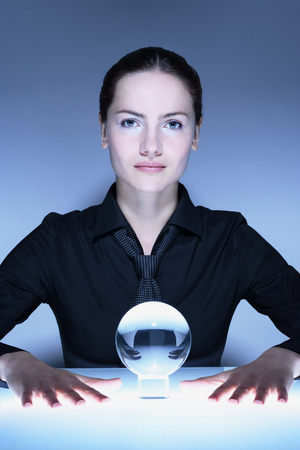 foreshadowing: Portrait of Woman with Crystal Ball LANG_EVOIMAGES