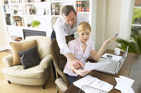 homeoffice: Couple Working in Home Office