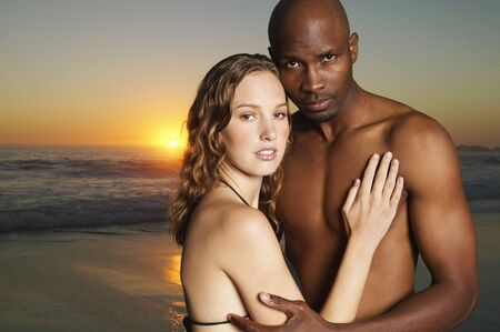 Portrait of Couple at Beach