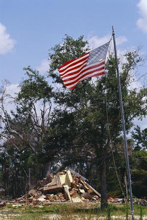 environmental issues: Aftermath of Hurricane Damage, Biloxi, Mississippi, USA