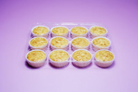 Cupcakes in Plastic Tray