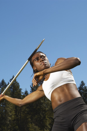 Women About to Throw Javelin