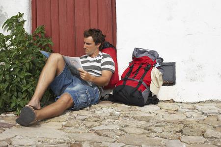 adventuresome: Backpacker Relaxing, Spain LANG_EVOIMAGES