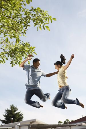 branching: Couple Jumping