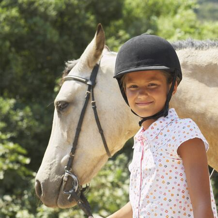 Portrait of Girl With Horse
