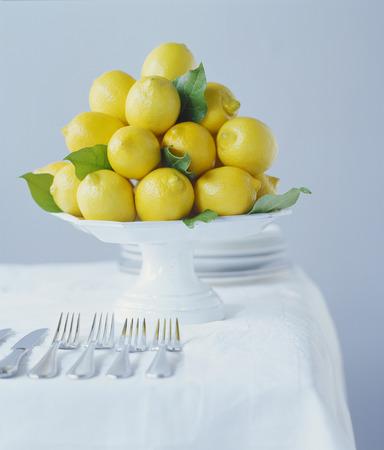 Lemons on Cake Stand
