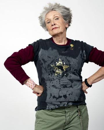 egoistic: Portrait of Woman in Punk Clothes