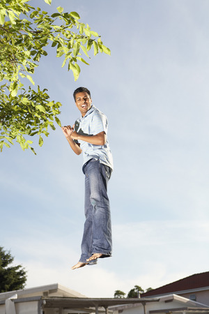 exhilarating: Man Jumping