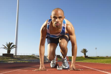 30 years old man: Runner at Starting Block