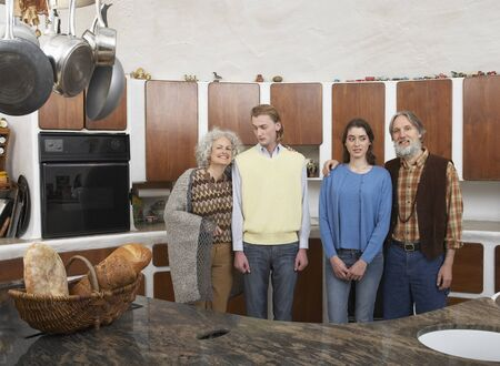Mature Family in Kitchen LANG_EVOIMAGES