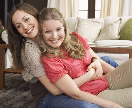 family sofa: Portrait of Friends