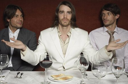 subservience: Businessmen in Last Supper Pose