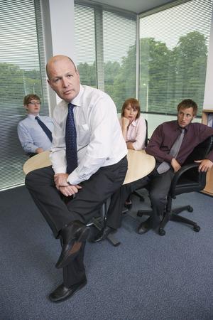window view: Portrait of Business Team