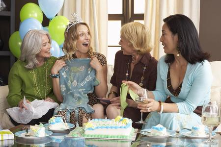 family sofa: Women Celebrating Birthday
