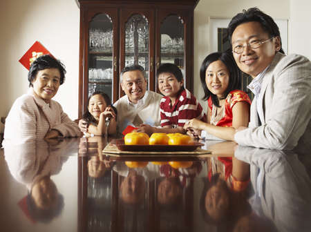 goodluck: Portrait of Family around Dining Table