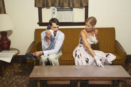 disapprove: Couple in Motel Room, Inspecting for Dirt