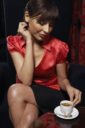 luxurious: Woman with Espresso
