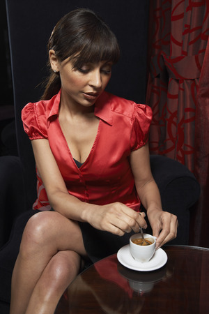 Woman with Espresso