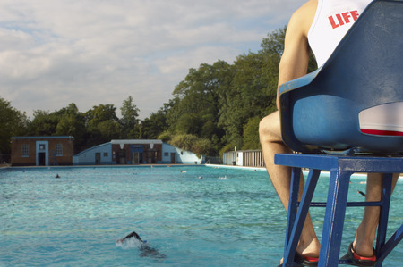 Lifeguard Watching Swimming Pool