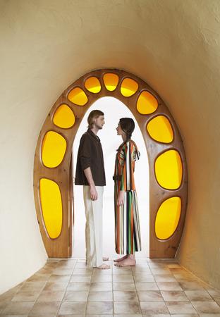 Hippie Couple in Doorway