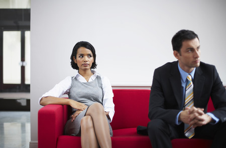 Business People in Waiting Room