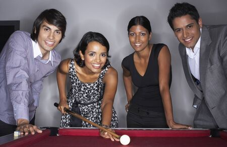 old english: Business People Playing Pool LANG_EVOIMAGES