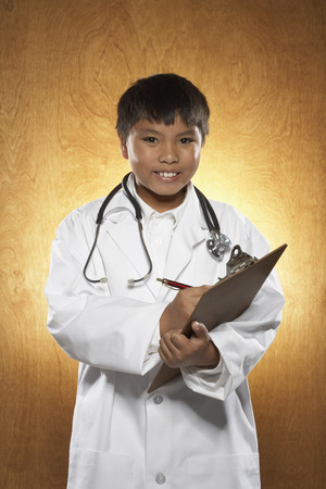 wood panelled: Boy Dressed as Doctor
